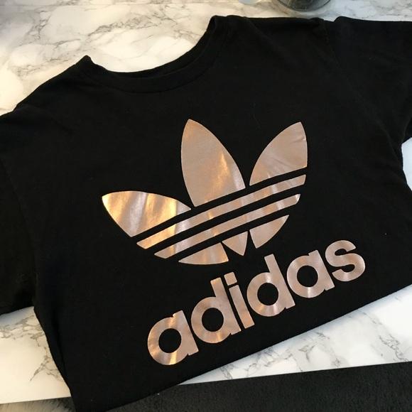 rose gold adidas crop top